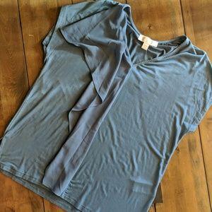 Michael Kors Short Sleeve Ruffle Top